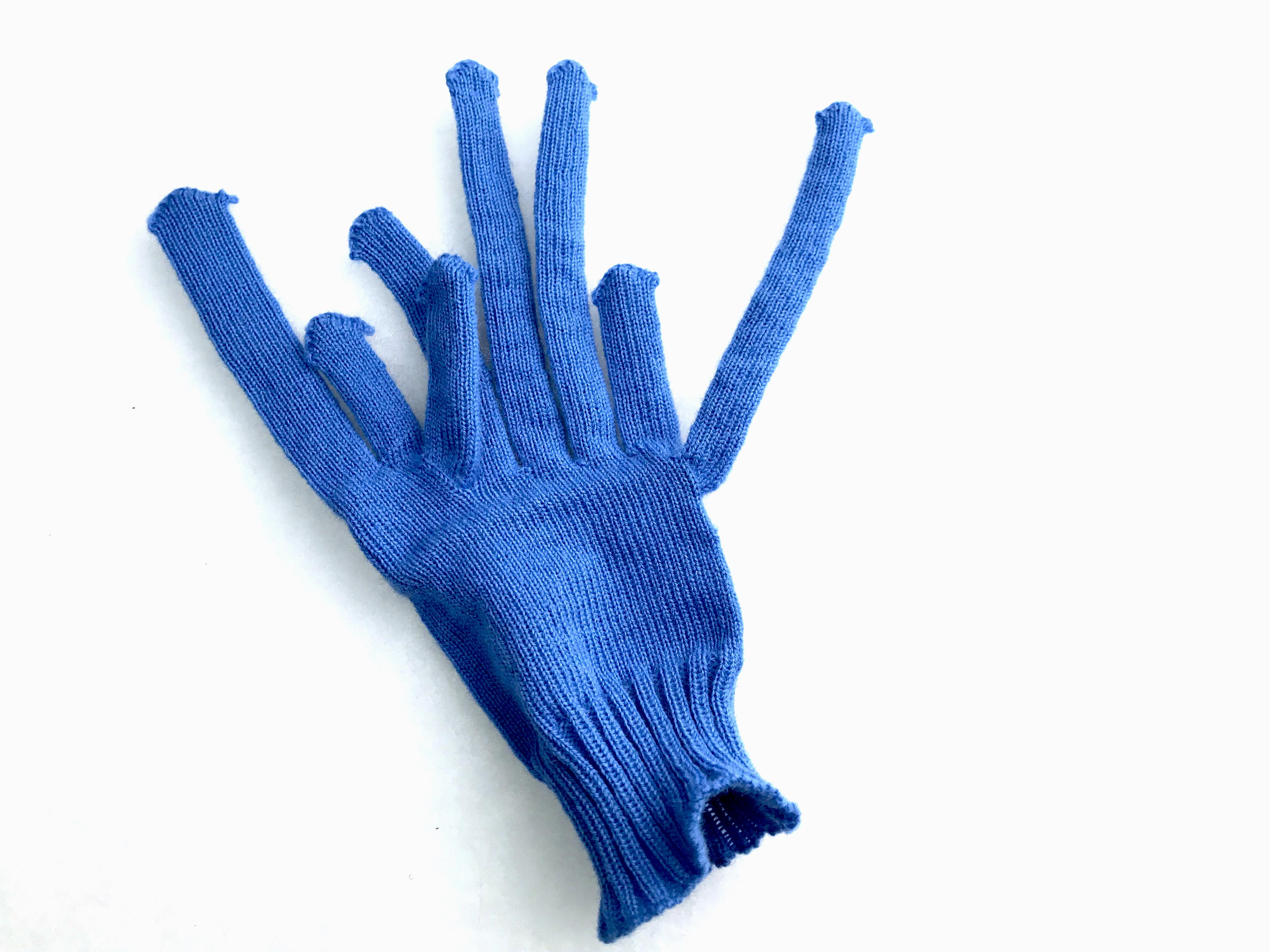 """Algorithmically generated glitch gloves."""